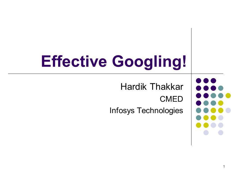 Hardik Thakkar CMED Infosys Technologies