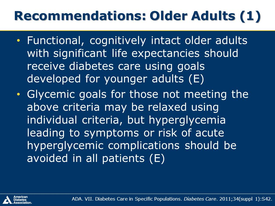 Recommendations: Older Adults (1)