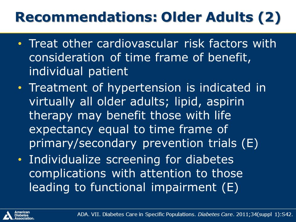 Recommendations: Older Adults (2)
