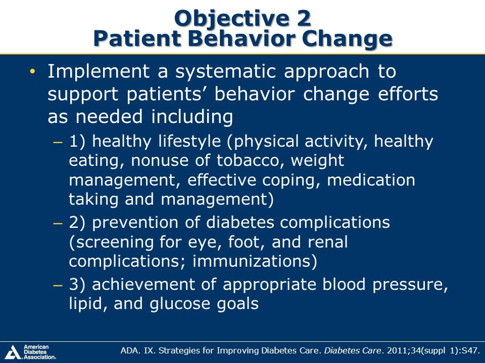 Objective 2 Patient Behavior Change