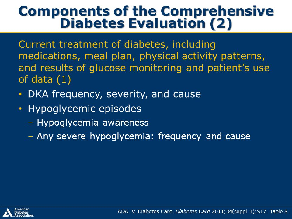 Components of the Comprehensive Diabetes Evaluation (2)