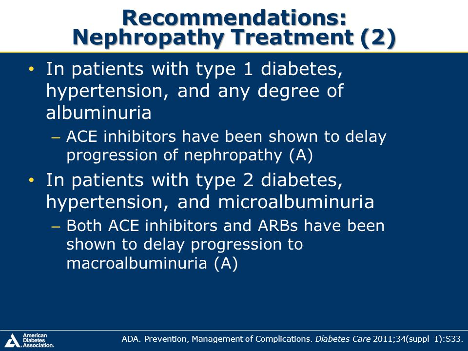 Recommendations: Nephropathy Treatment (2)