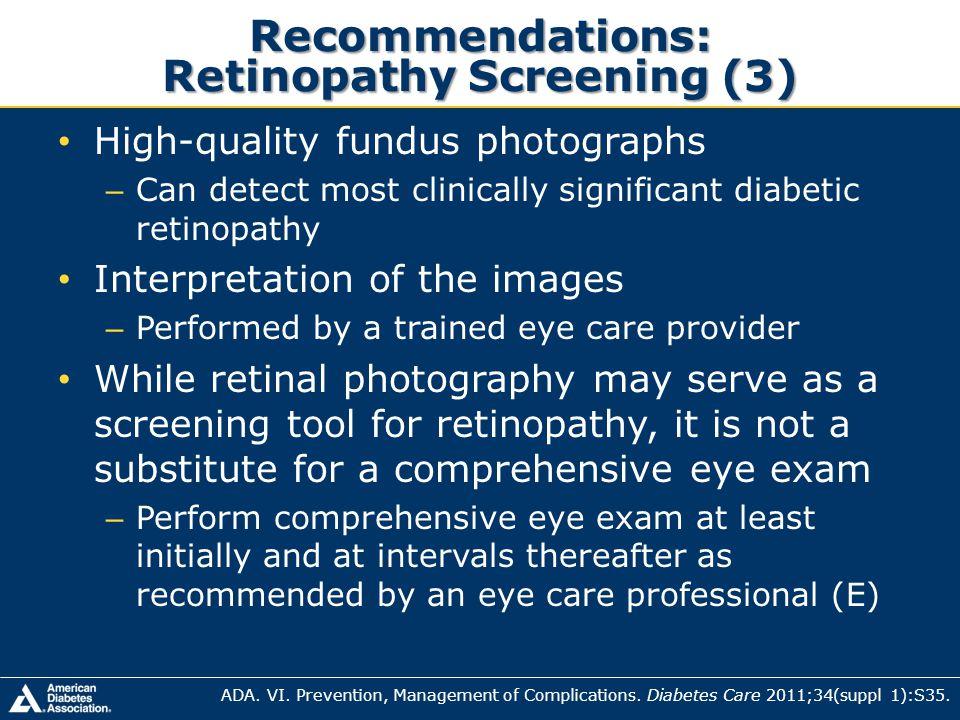Recommendations: Retinopathy Screening (3)