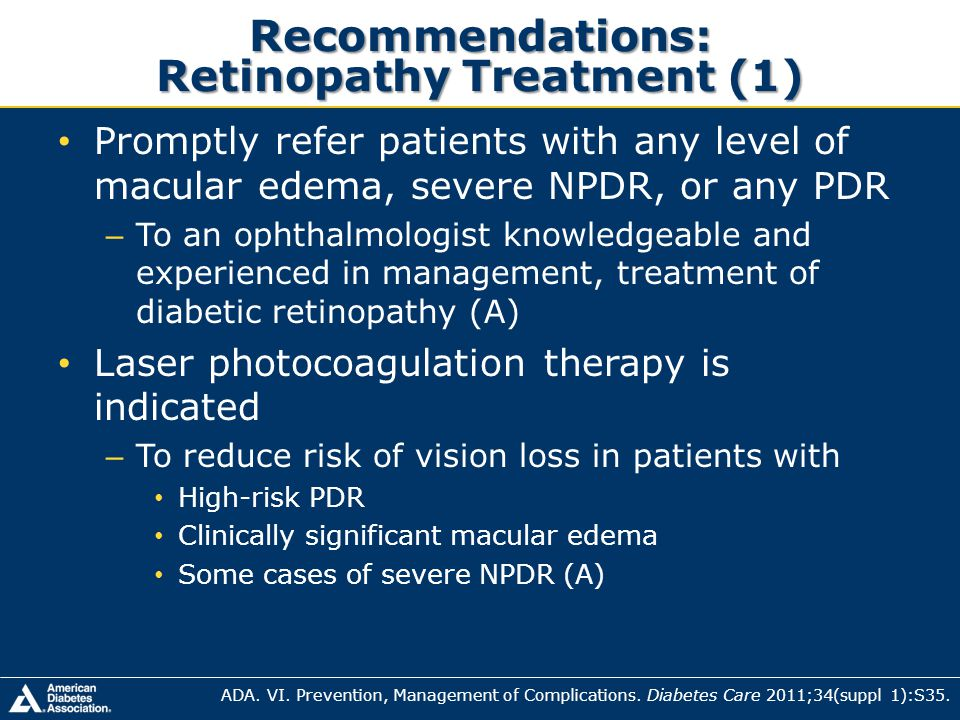 Recommendations: Retinopathy Treatment (1)