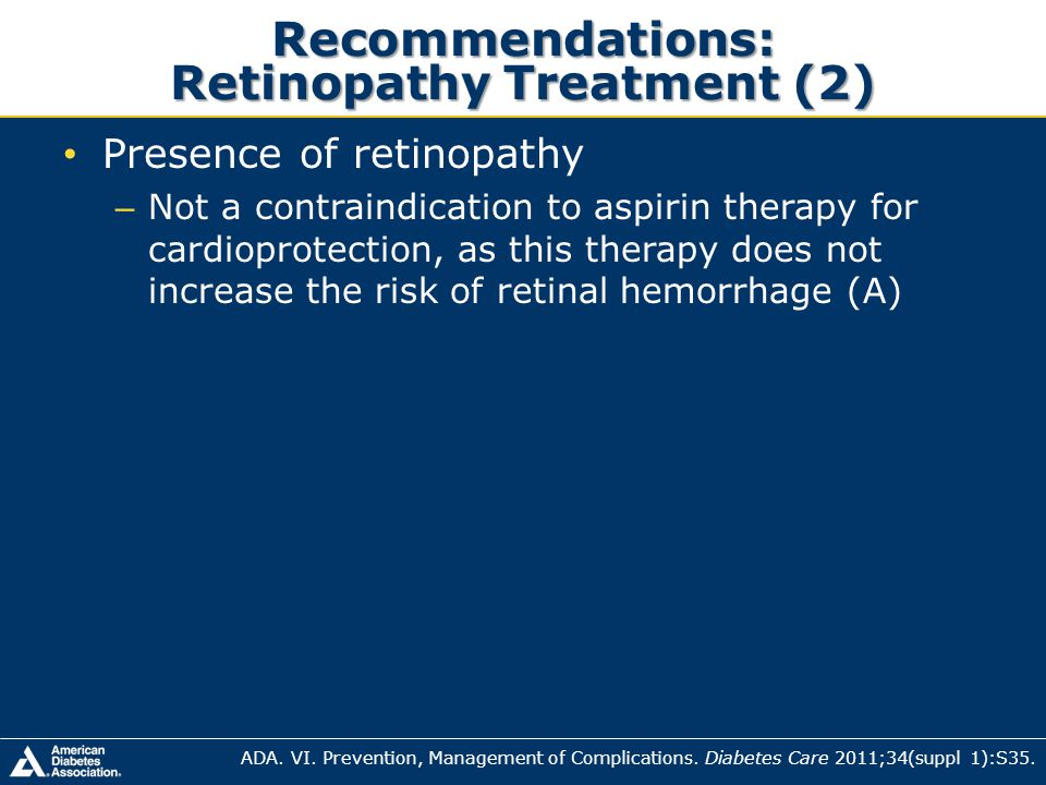 Recommendations: Retinopathy Treatment (2)