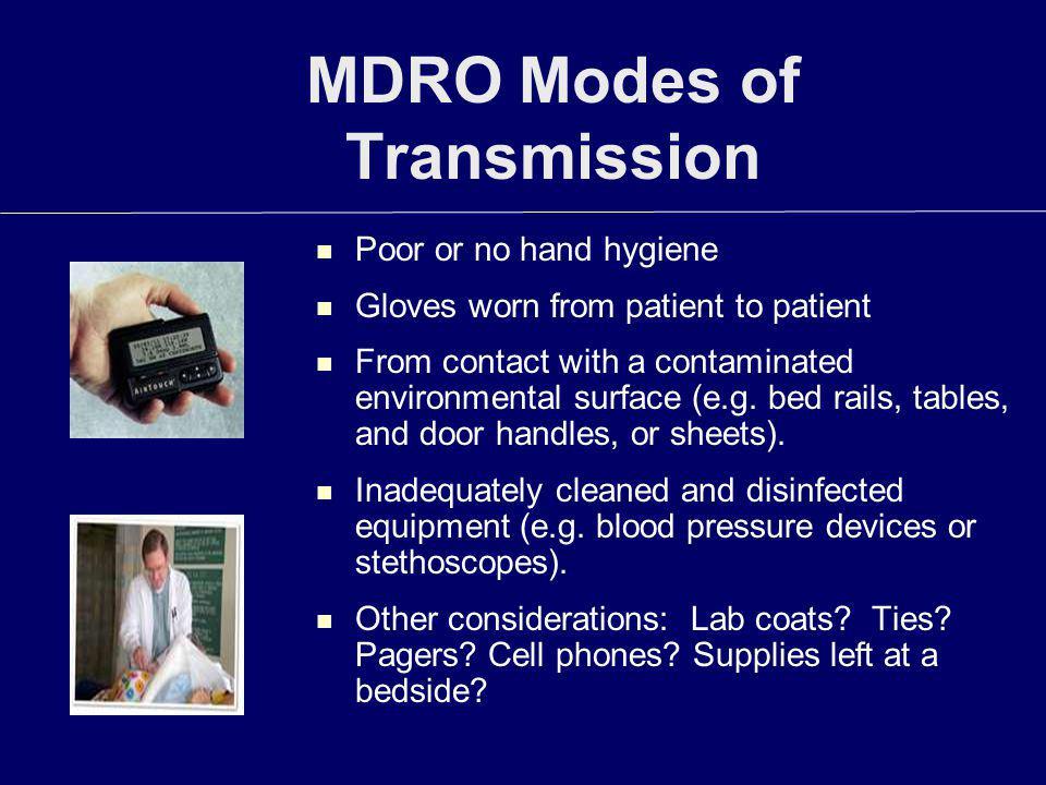MDRO Modes of Transmission