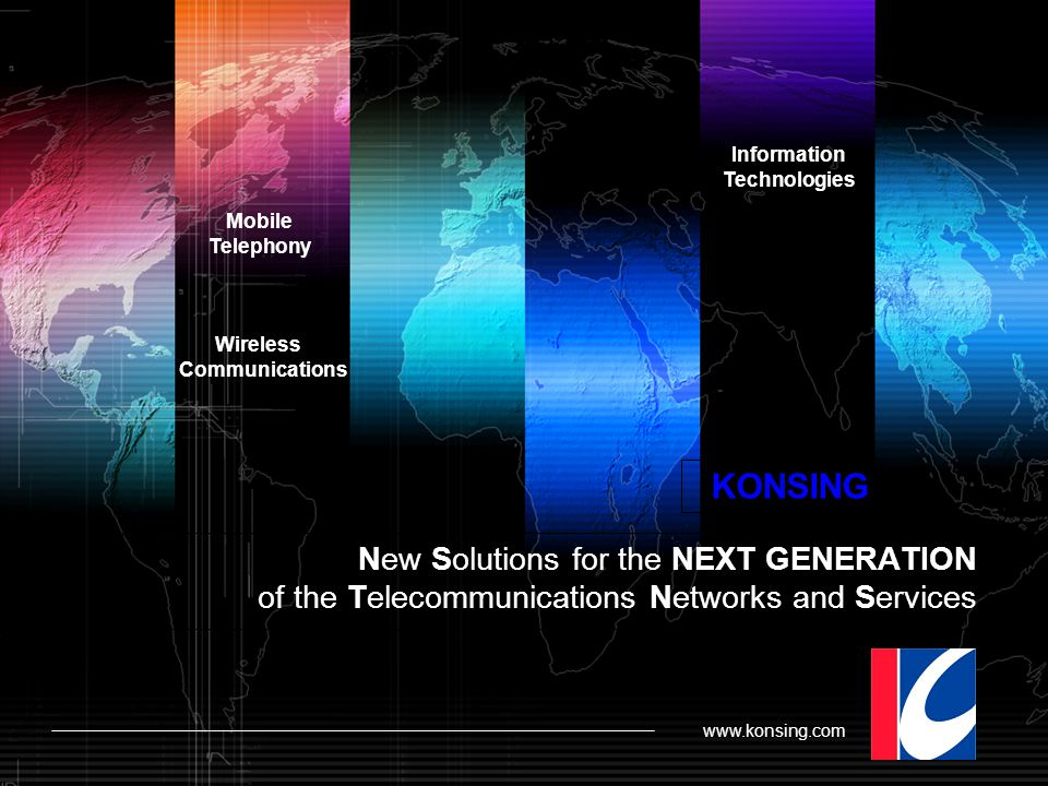 Information Technologies. Mobile. Telephony. Wireless. Communications. KONSING.