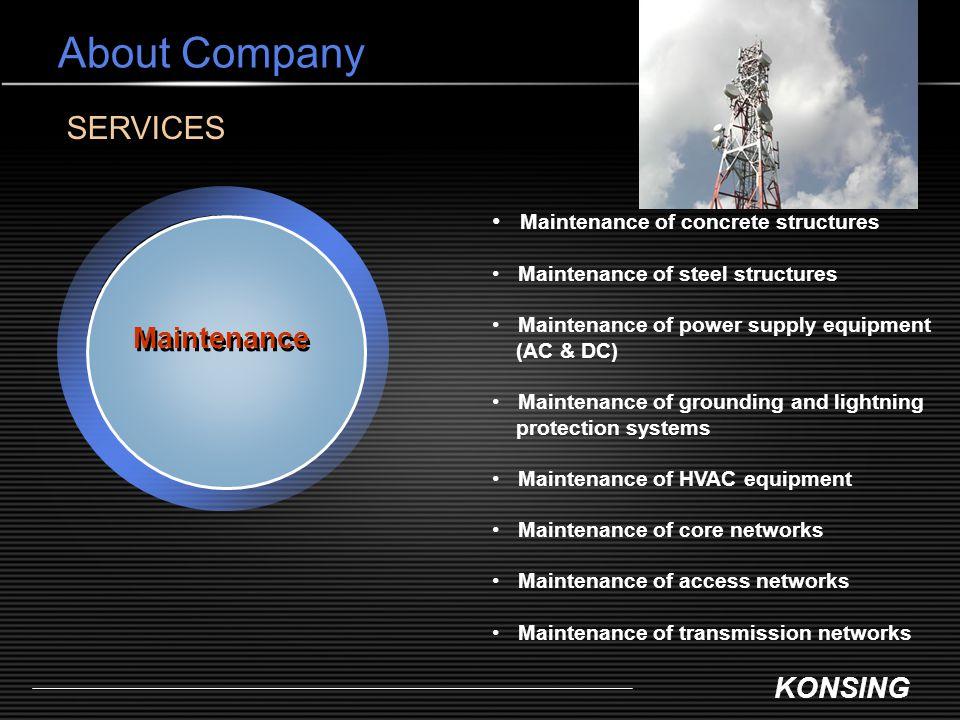 About Company SERVICES Maintenance Maintenance of concrete structures