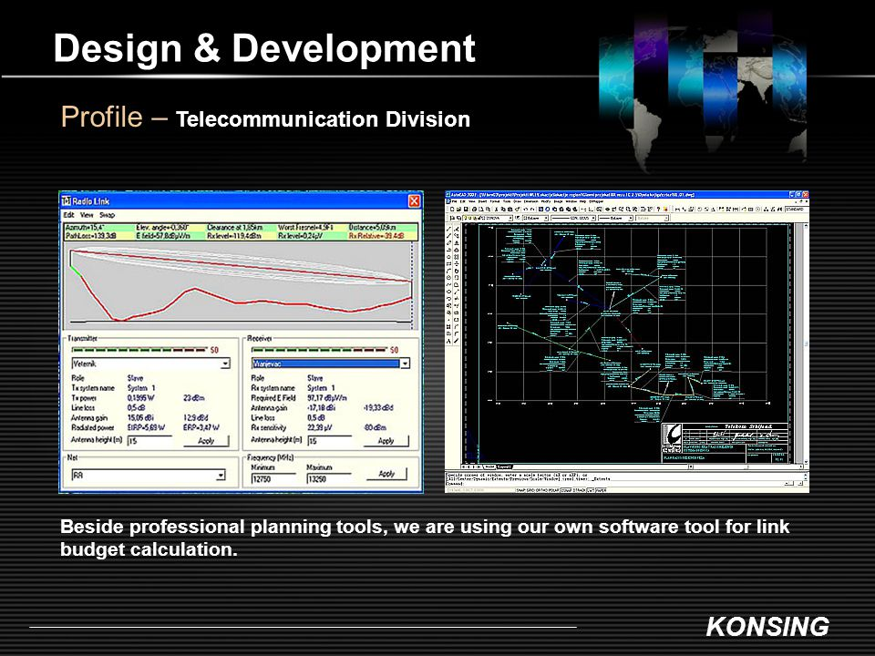 Design & Development Profile – Telecommunication Division
