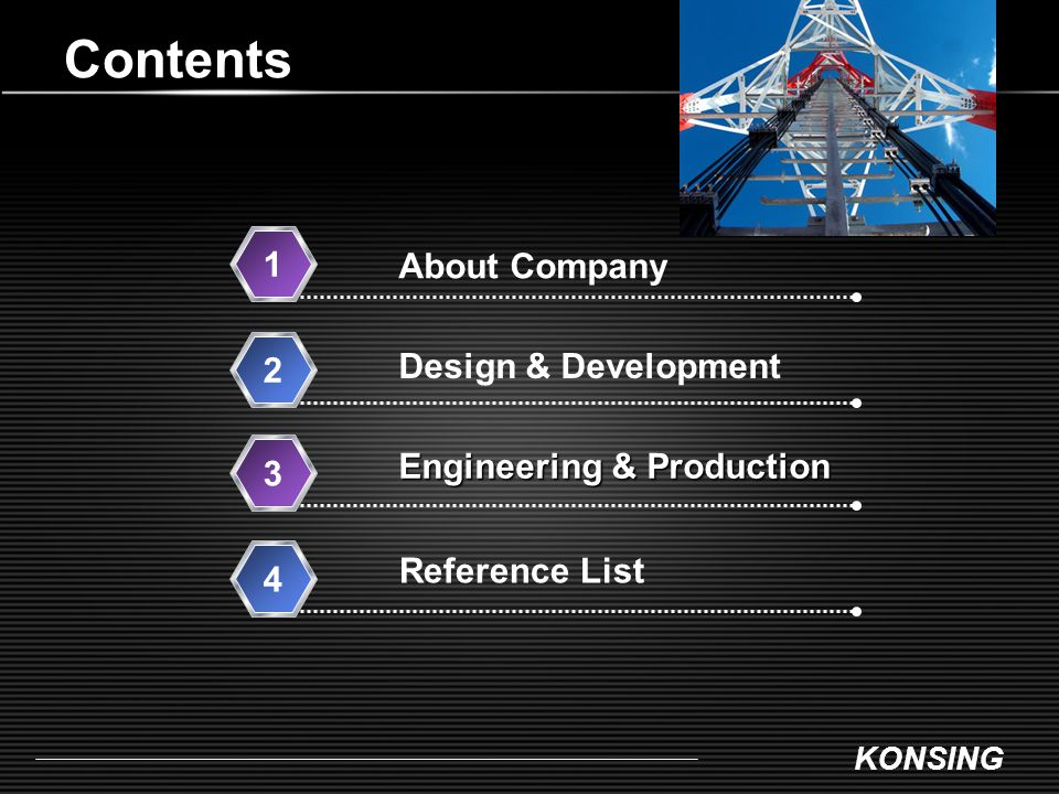Contents 1 About Company Design & Development 2