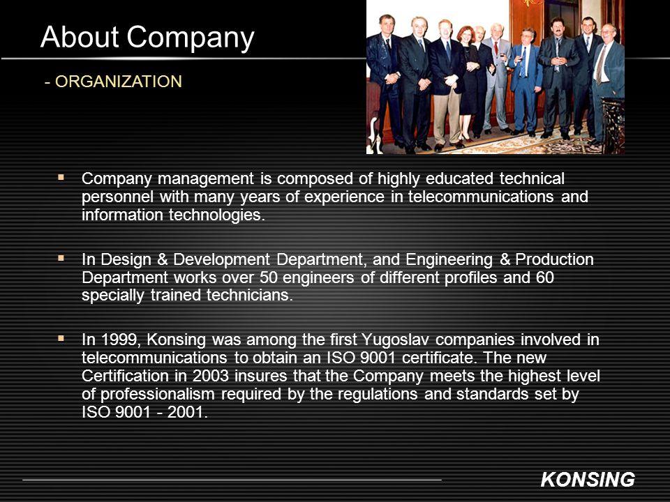 About Company - ORGANIZATION