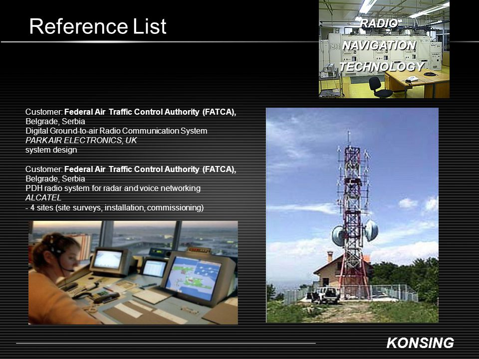 Reference List RADIO NAVIGATION TECHNOLOGY