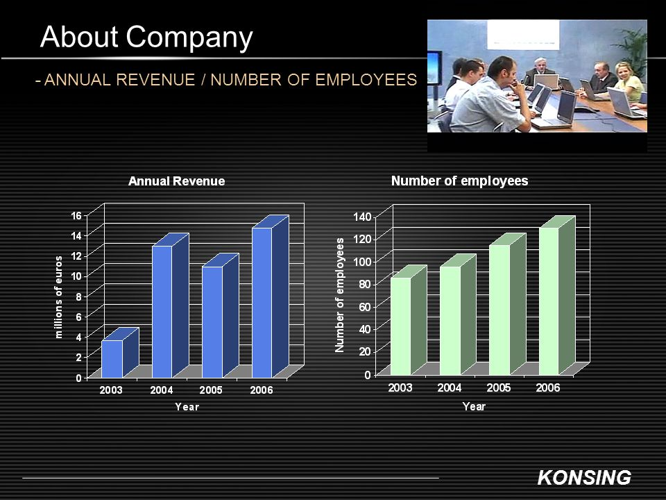 About Company - ANNUAL REVENUE / NUMBER OF EMPLOYEES