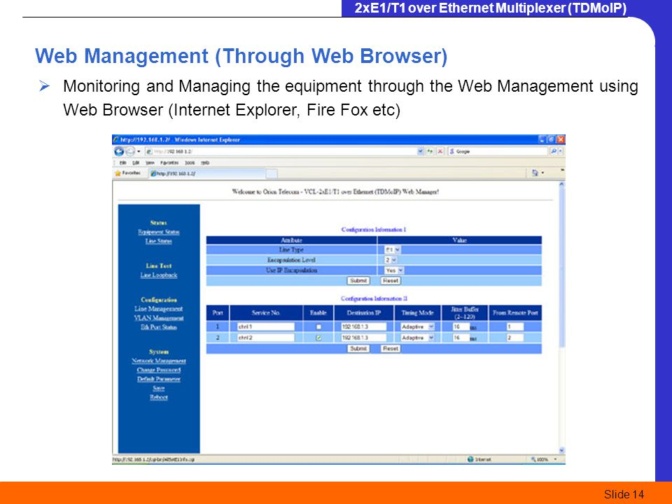 Web Management (Through Web Browser)