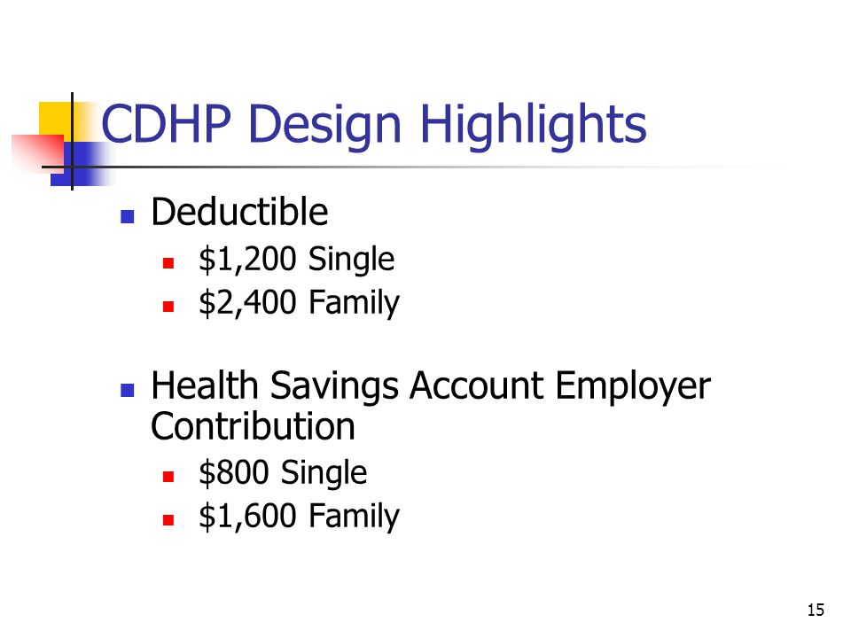 CDHP Design Highlights