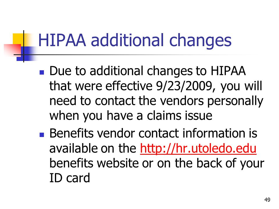 HIPAA additional changes
