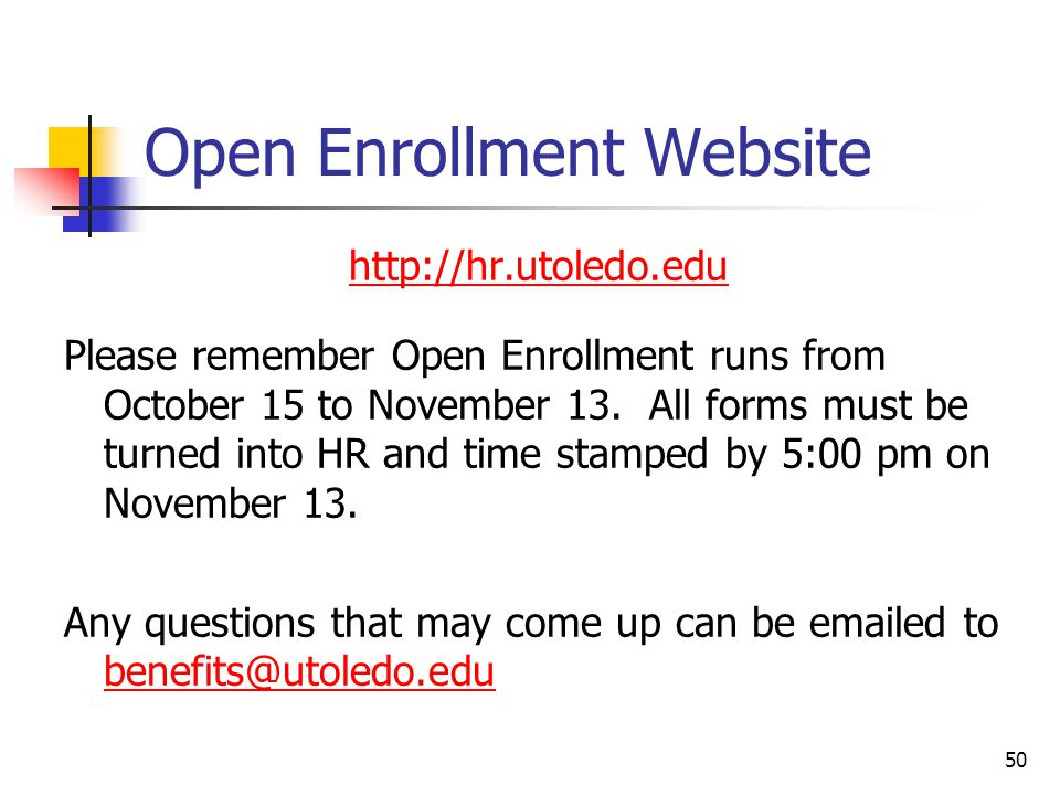 Open Enrollment Website