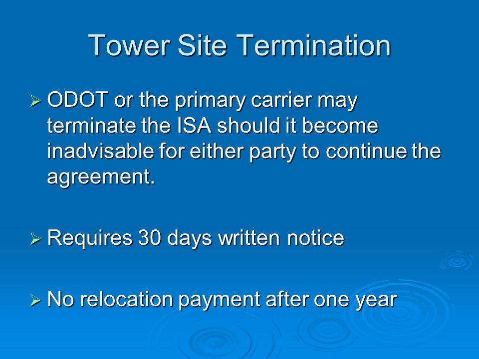 Tower Site Termination