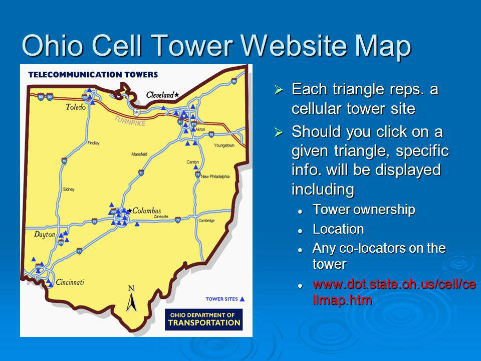 Ohio Cell Tower Website Map