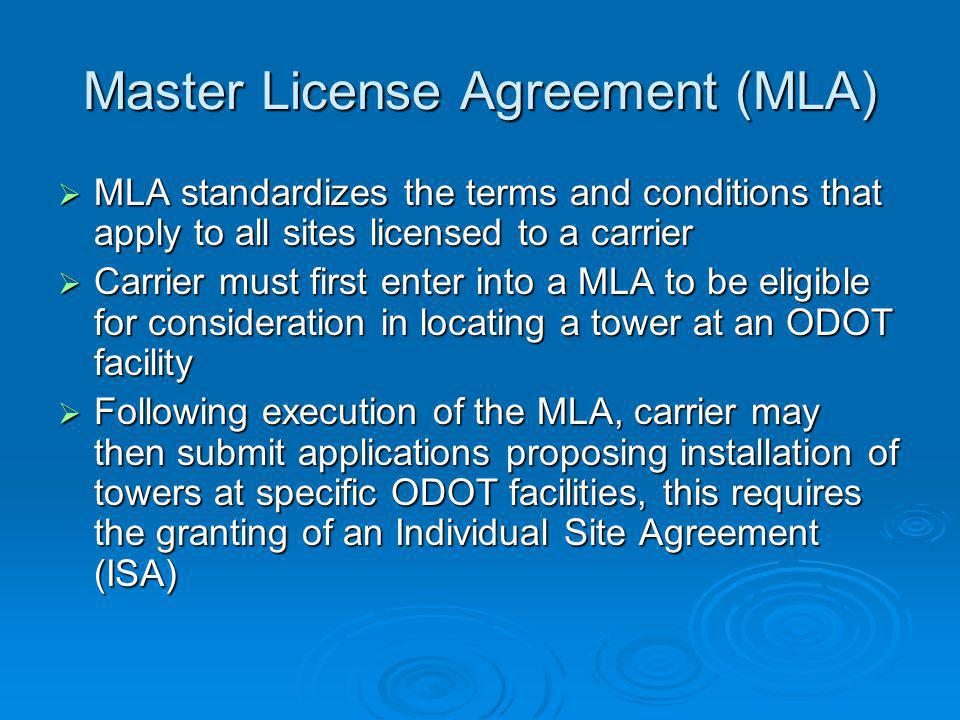 Master License Agreement (MLA)