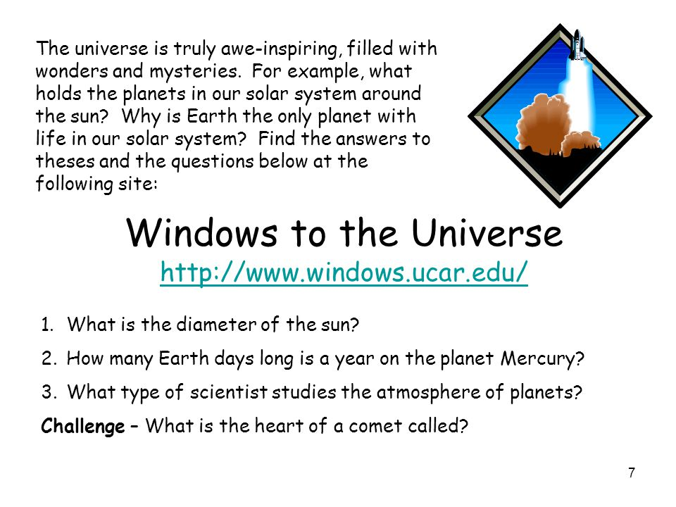 Windows to the Universe http://www.windows.ucar.edu/