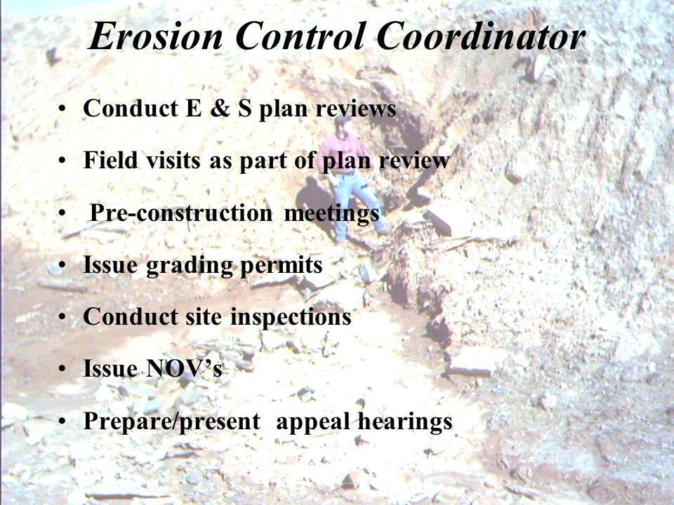 Erosion Control Coordinator