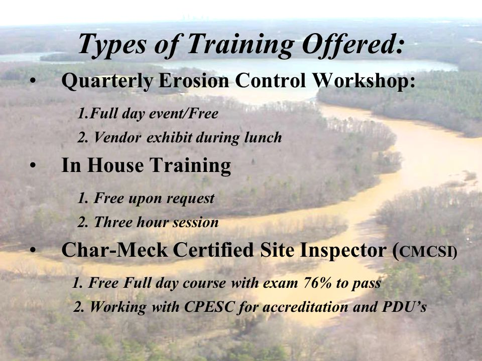 Types of Training Offered:
