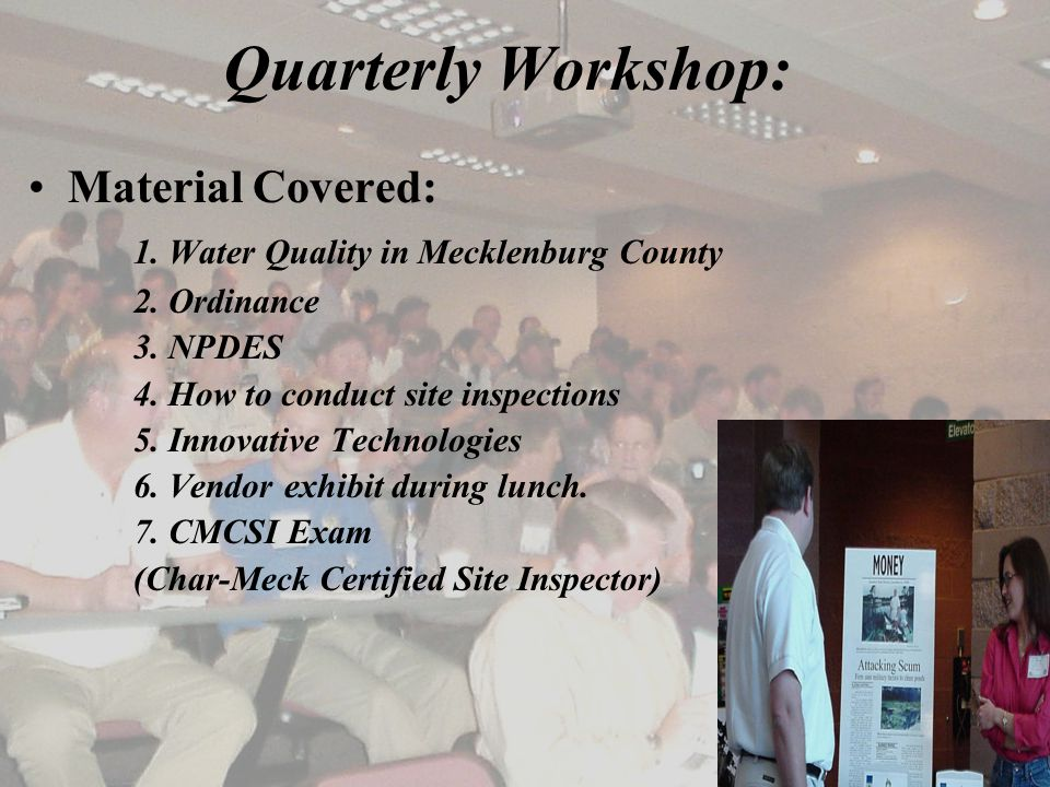Quarterly Workshop: Material Covered: