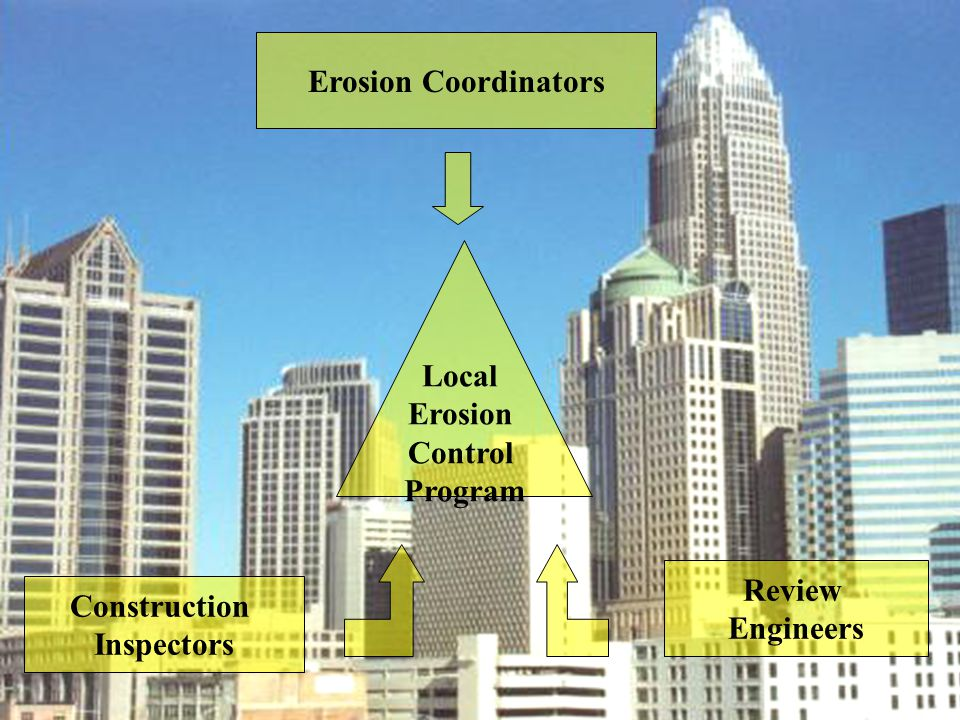 Erosion Coordinators Local Erosion Control Program Review Engineers Construction Inspectors