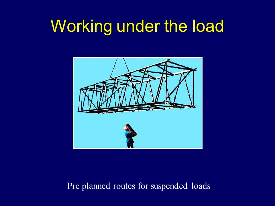 Pre planned routes for suspended loads