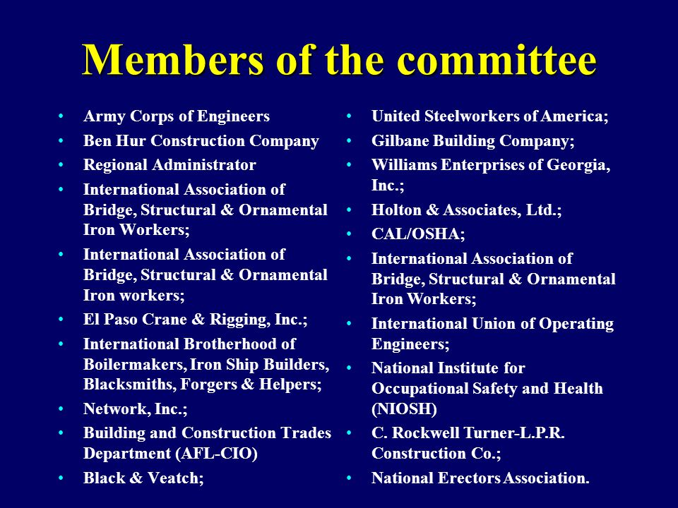Members of the committee