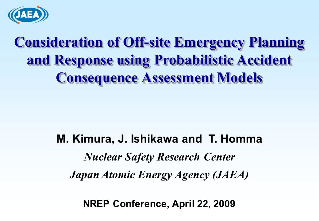 Consideration of Off-site Emergency Planning and Response using Probabilistic Accident Consequence Assessment Models
