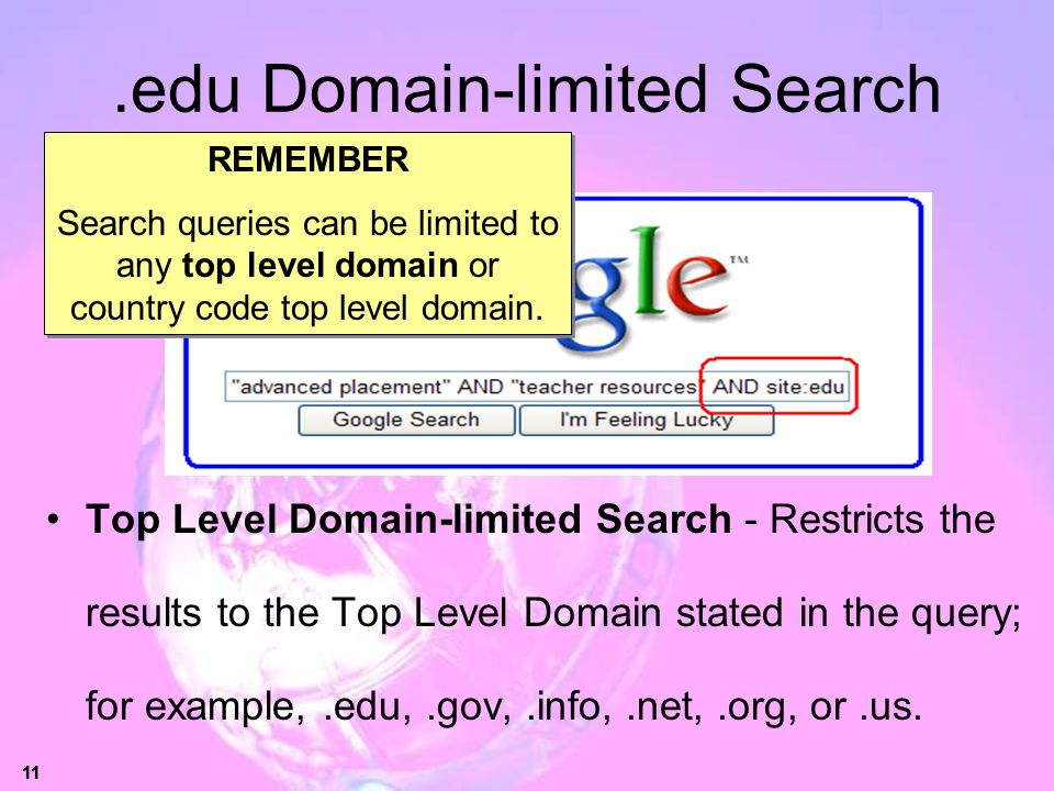.edu Domain-limited Search
