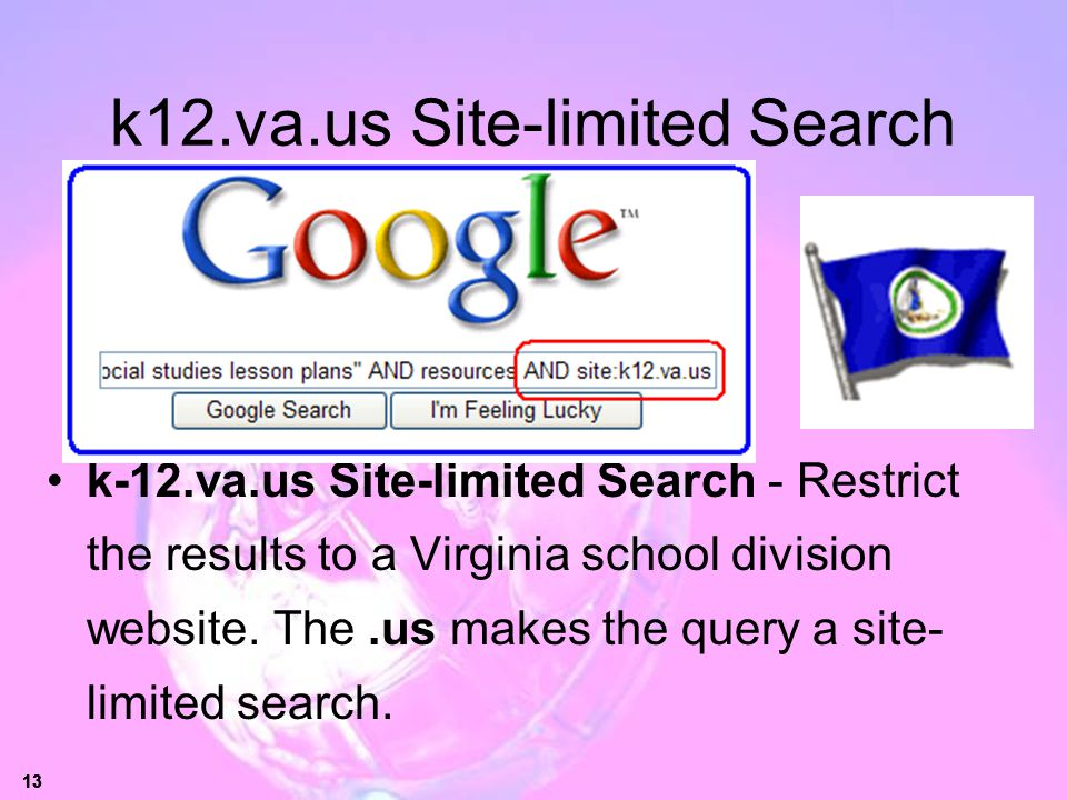k12.va.us Site-limited Search