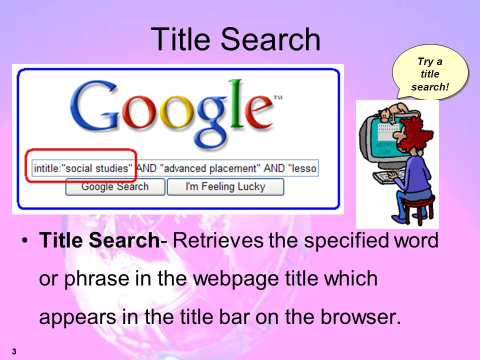 Title Search Try a title search!