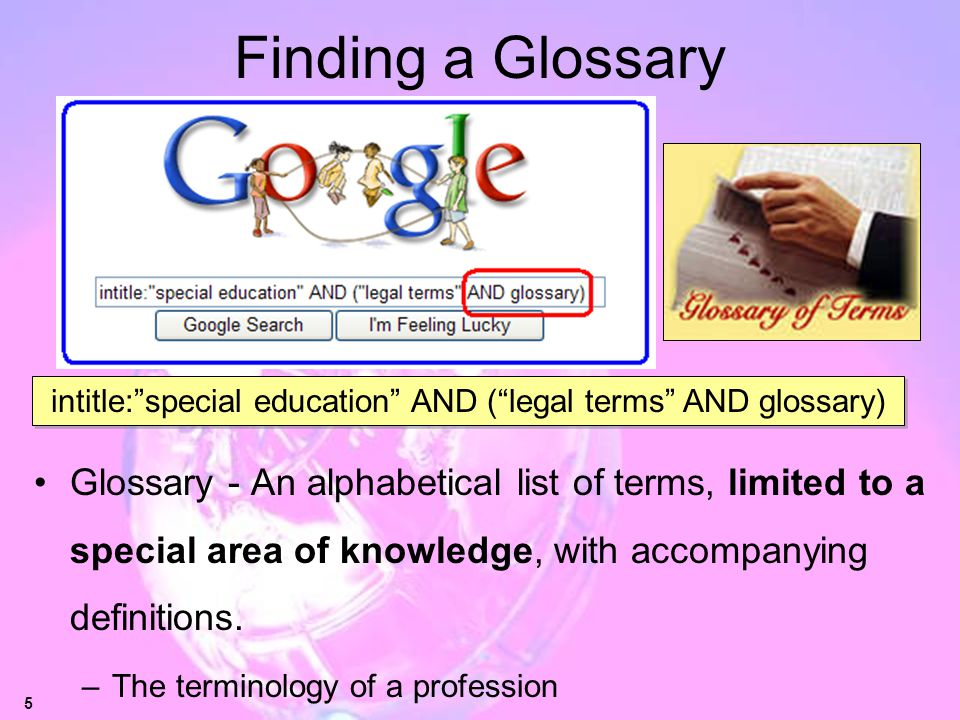 intitle: special education AND ( legal terms AND glossary)