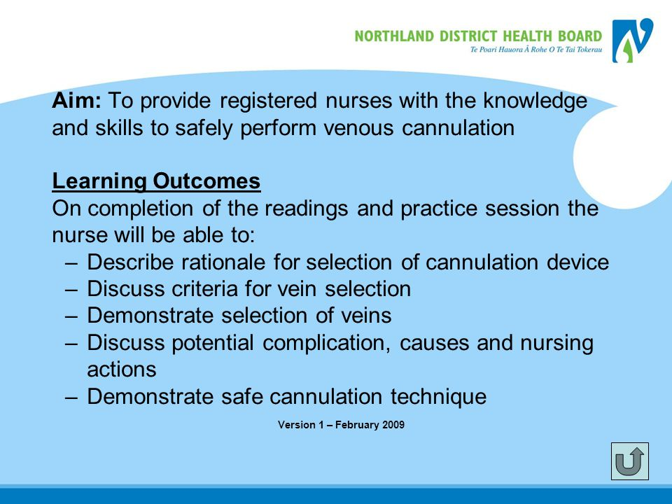 Aim: To provide registered nurses with the knowledge
