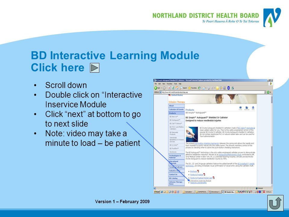 BD Interactive Learning Module Click here
