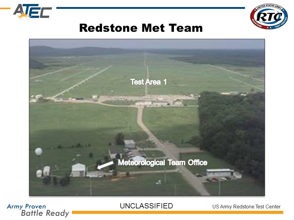 Redstone Met Team Test Area 1 Meteorological Team Office UNCLASSIFIED