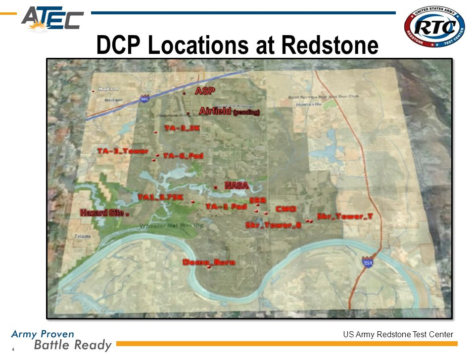 DCP Locations at Redstone