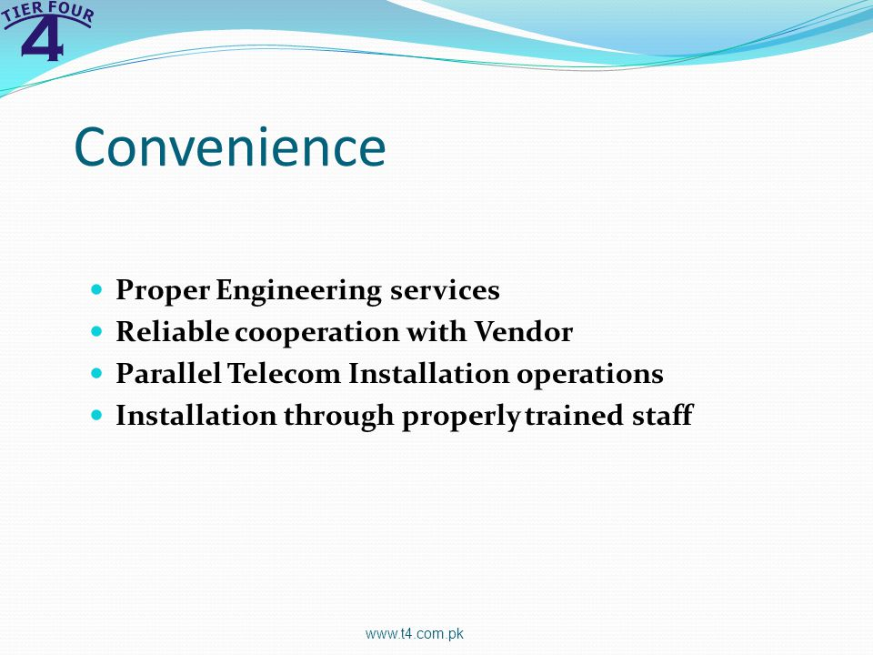 Convenience Proper Engineering services