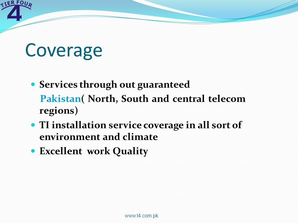 Coverage Services through out guaranteed