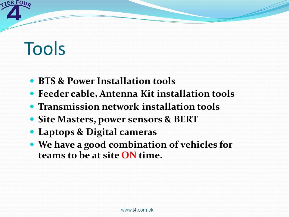 Tools BTS & Power Installation tools