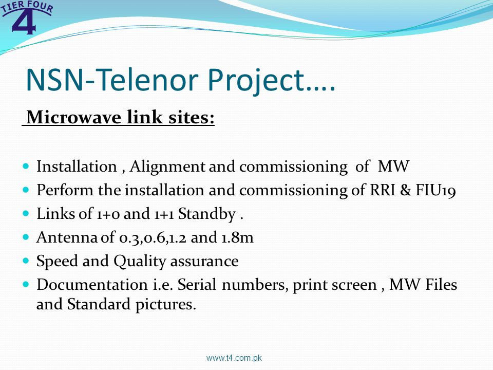 NSN-Telenor Project…. Microwave link sites: