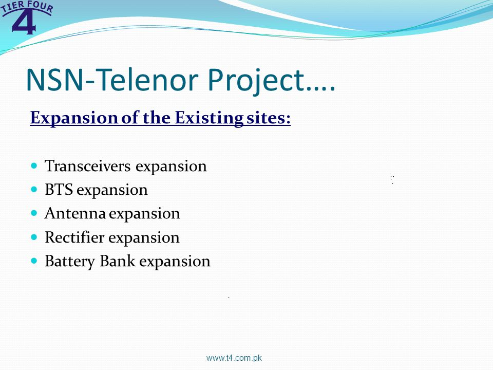 NSN-Telenor Project…. Expansion of the Existing sites: