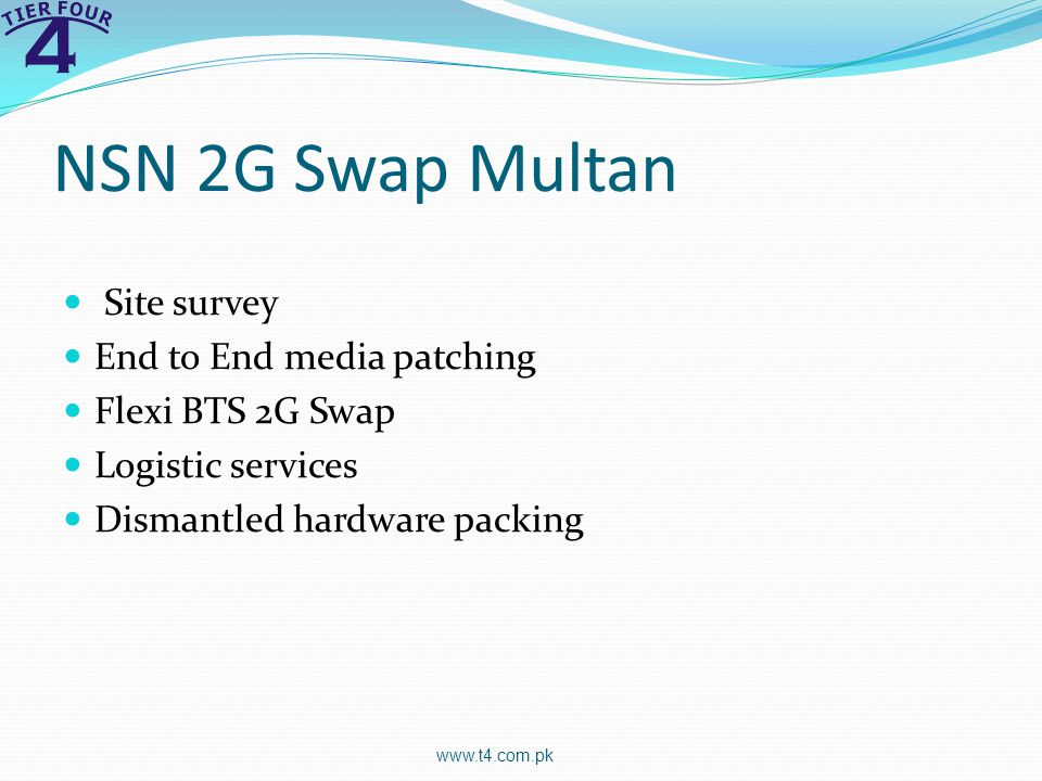 NSN 2G Swap Multan Site survey End to End media patching