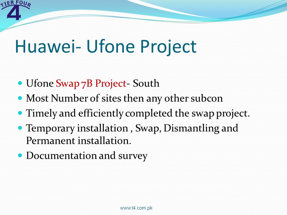 Huawei- Ufone Project Ufone Swap 7B Project- South