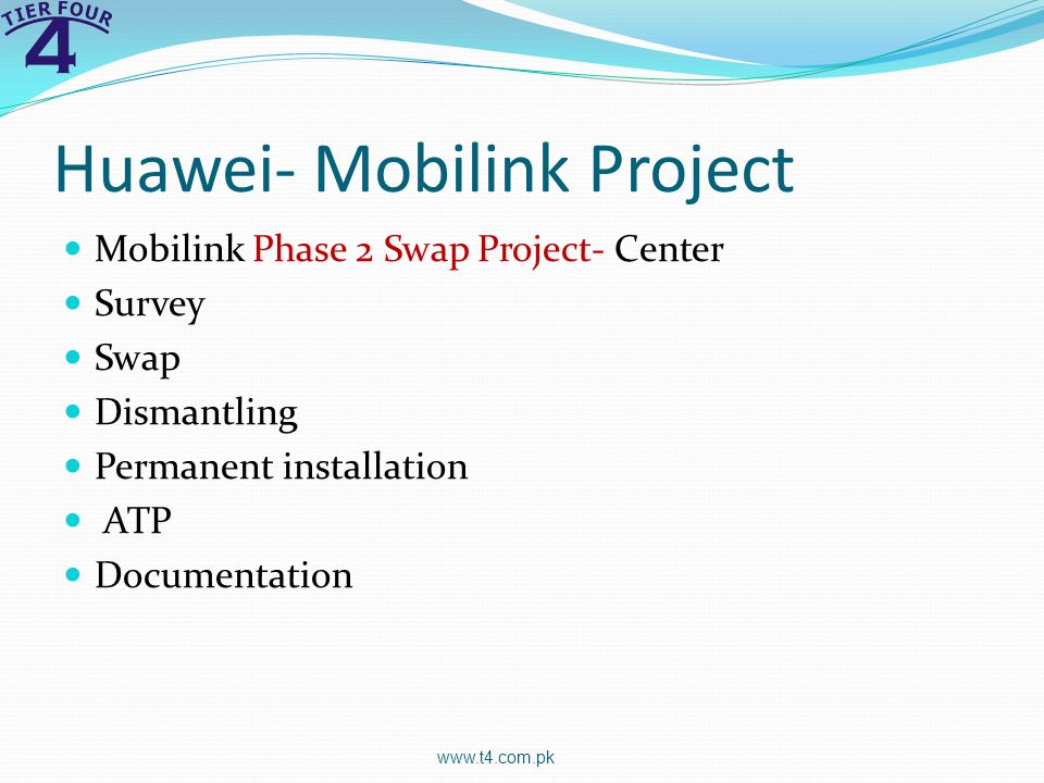 Huawei- Mobilink Project
