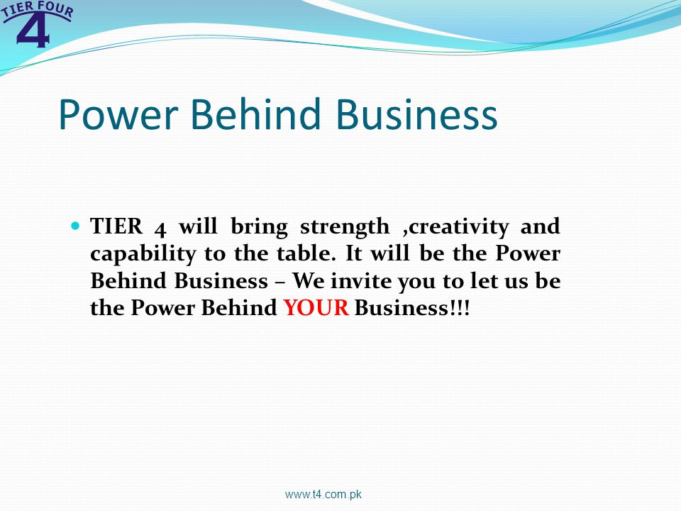 Power Behind Business