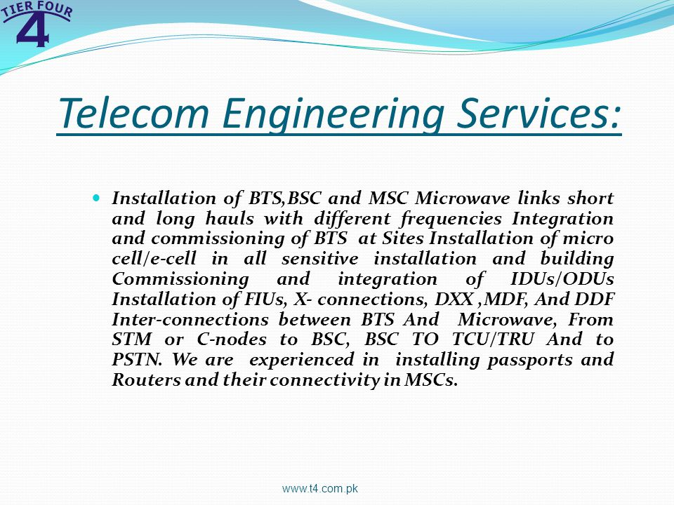 Telecom Engineering Services: